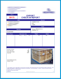 Export Check-in